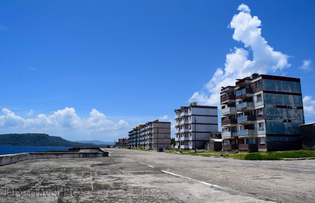 Ugly malecon in Baracoa