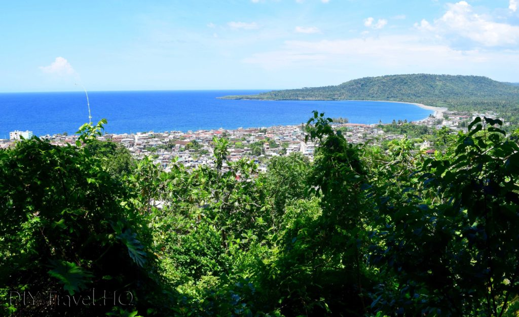 View of Baracoa from the upper caves