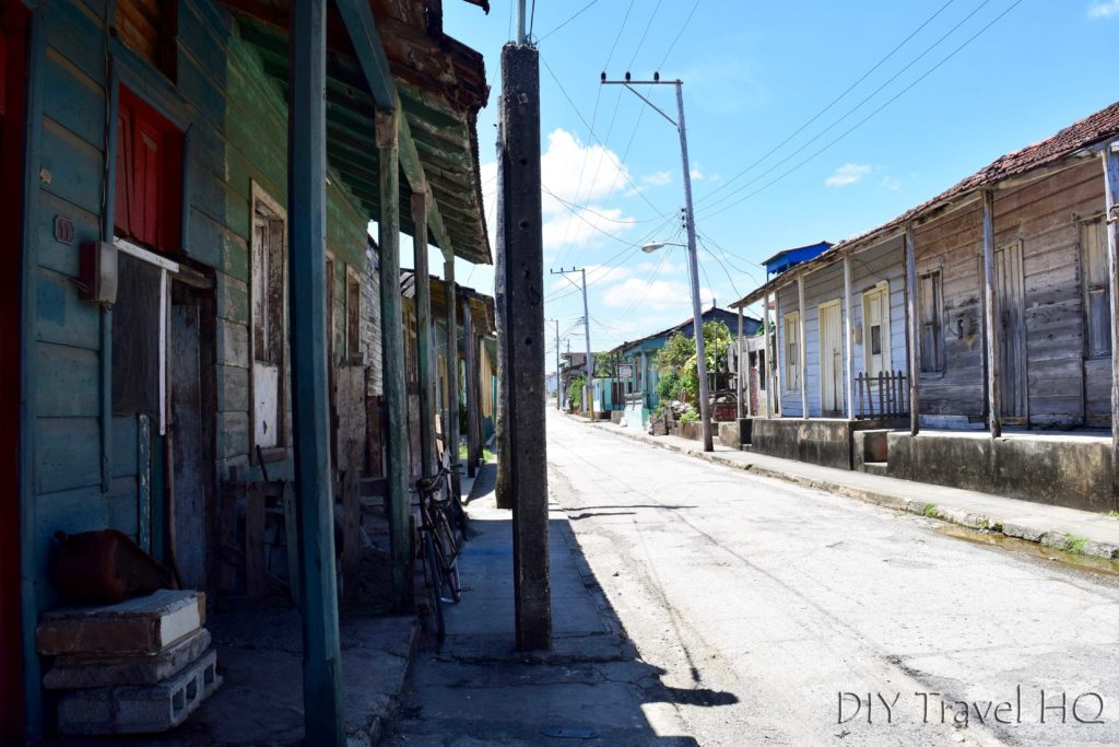 Local street in Baracoa