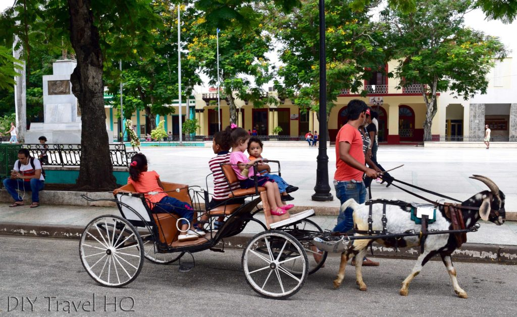 Goat cart around Bayamo
