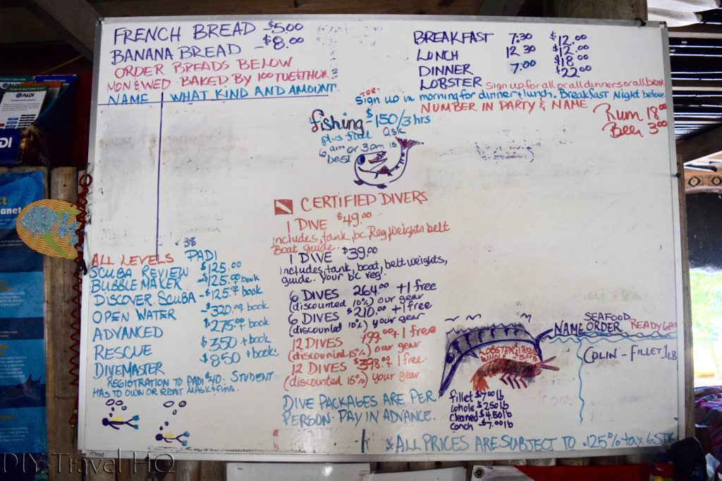 Whiteboard on Glover Atoll Resort