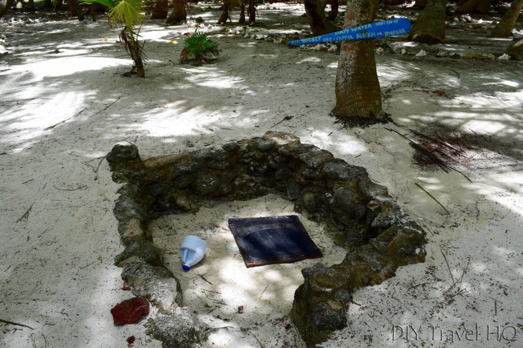 Ground well-water on Glover Atoll