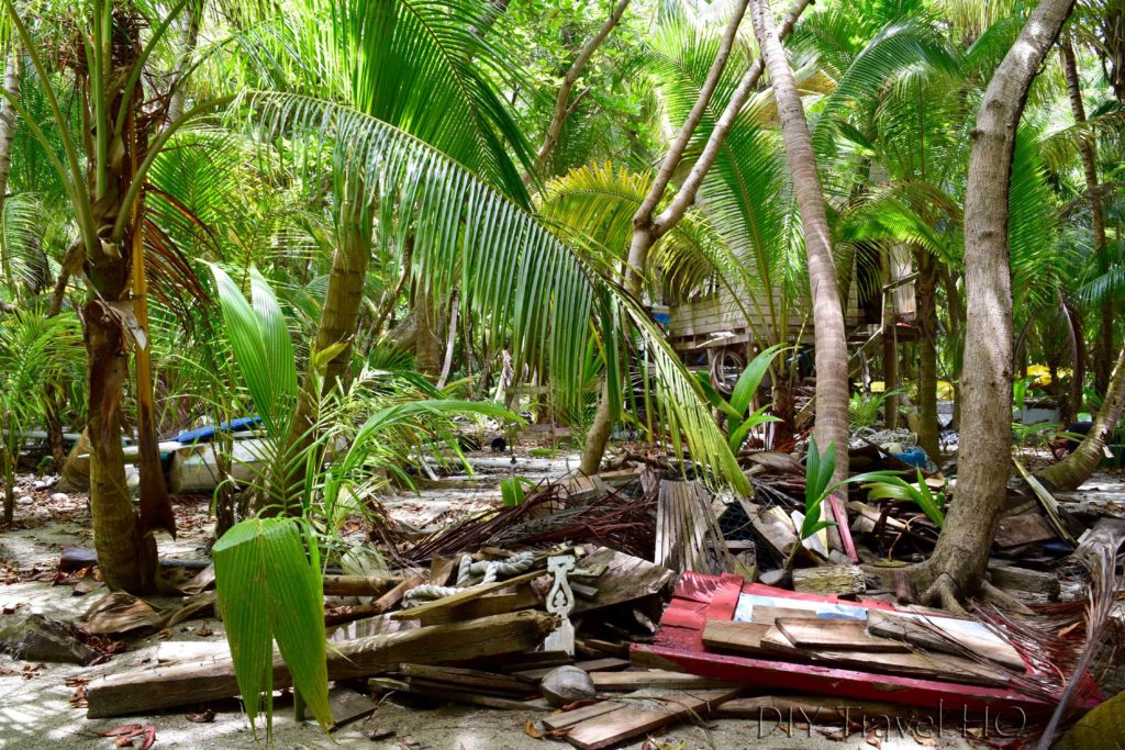Hard rubbish on Glovers Atoll Resort