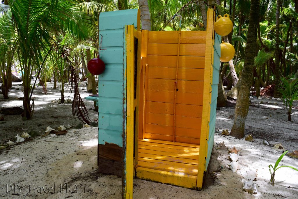Shower on Glovers Atoll Resort