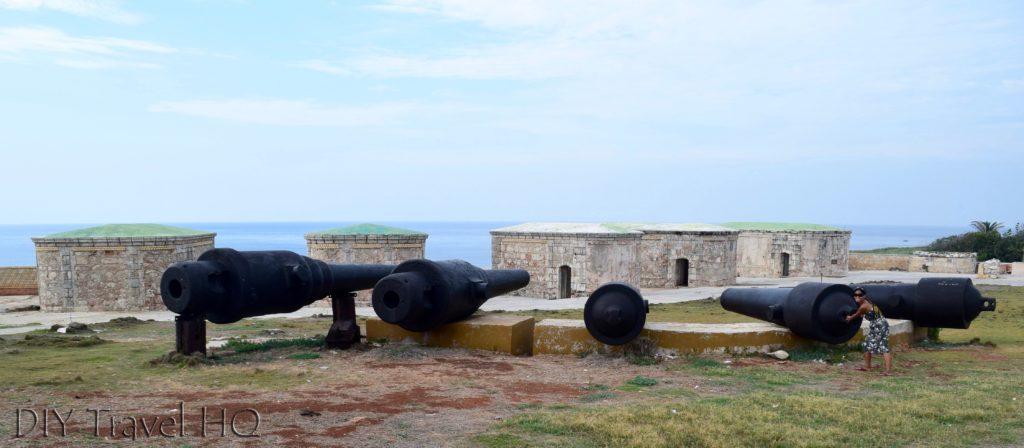 Havana Parque Historico Militar Morro-Cabana Castillo de los Tres Santos Reyes Magnos del Morro Ammunition Shelters and Cannons Selfie