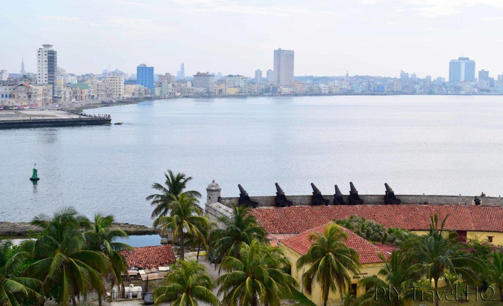 Havana Parque Historico Militar Morro-Cabana Castillo de los Tres Santos Reyes Magnos del Morro Free Lookout View of Cannons and Havana