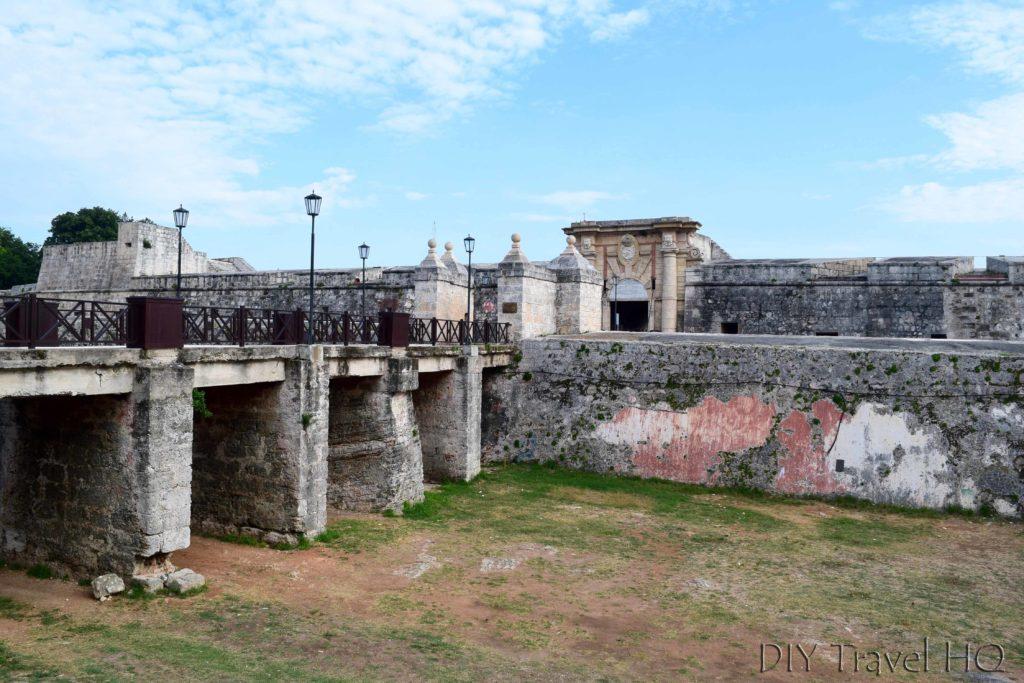 Havana Parque Historico Militar Morro-Cabana Fortaleza de San Carlos de la Cabana Moat and Entrance