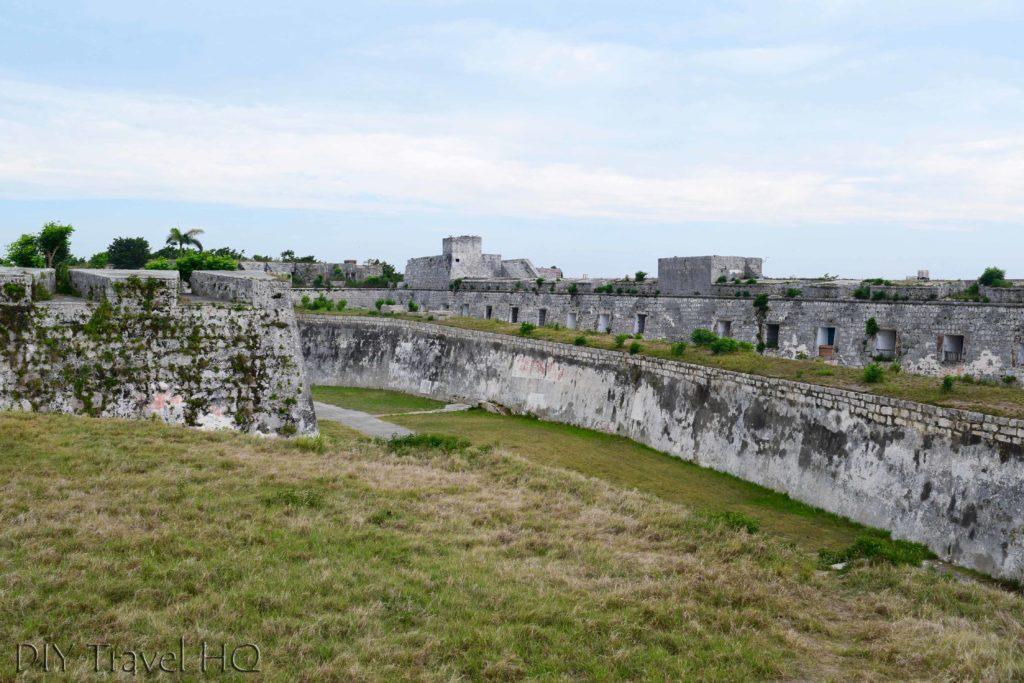 Havana Parque Historico Militar Morro-Cabana Fortaleza de San Carlos de la Cabana Walls and Moat