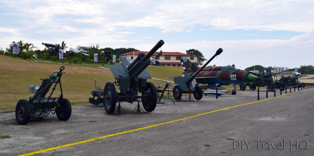Havana Parque Historico Militar Morro-Cabana Fortaleza de San Carlos de la Cabana Weapon Arsenal Exhibition