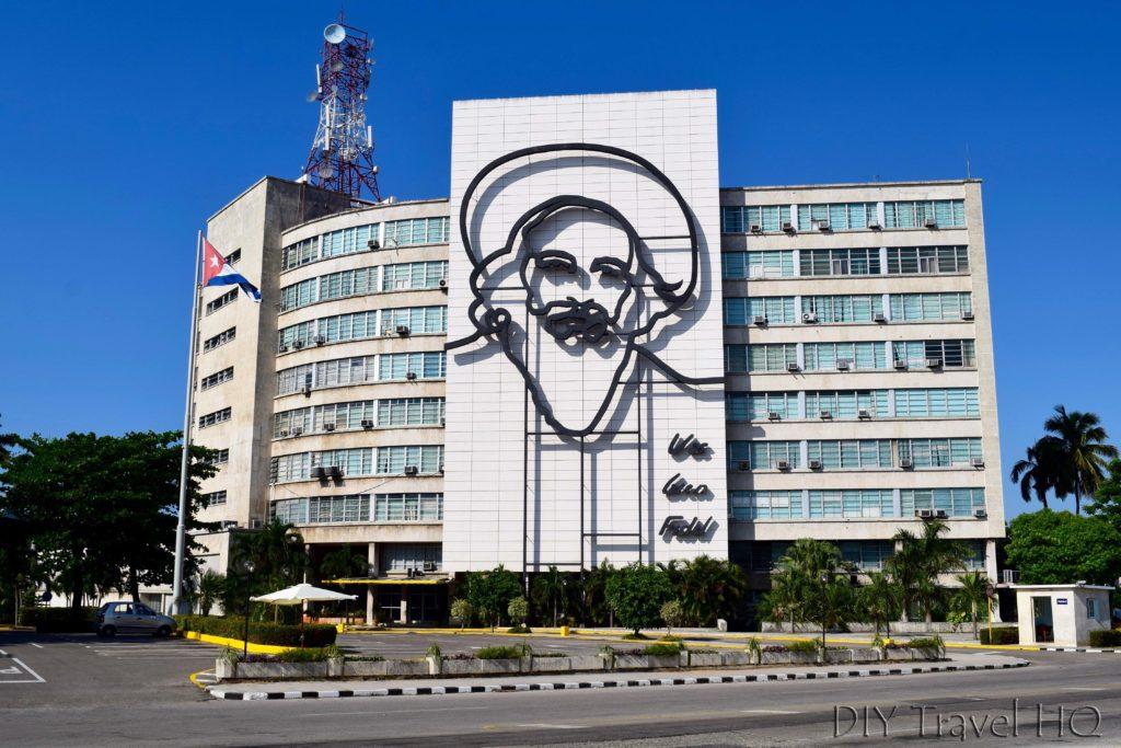 Havana Vedado Plaza de la Revolucion Camilo Cienfuegos Mural