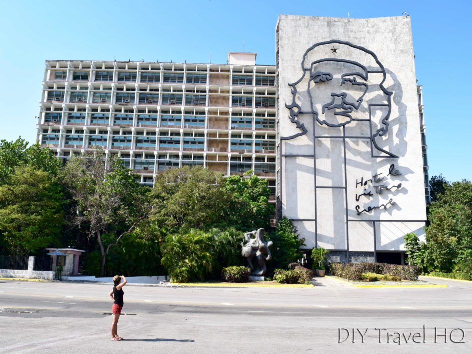 Havana Vedado Plaza de la Revolucion Che Guevara Mural