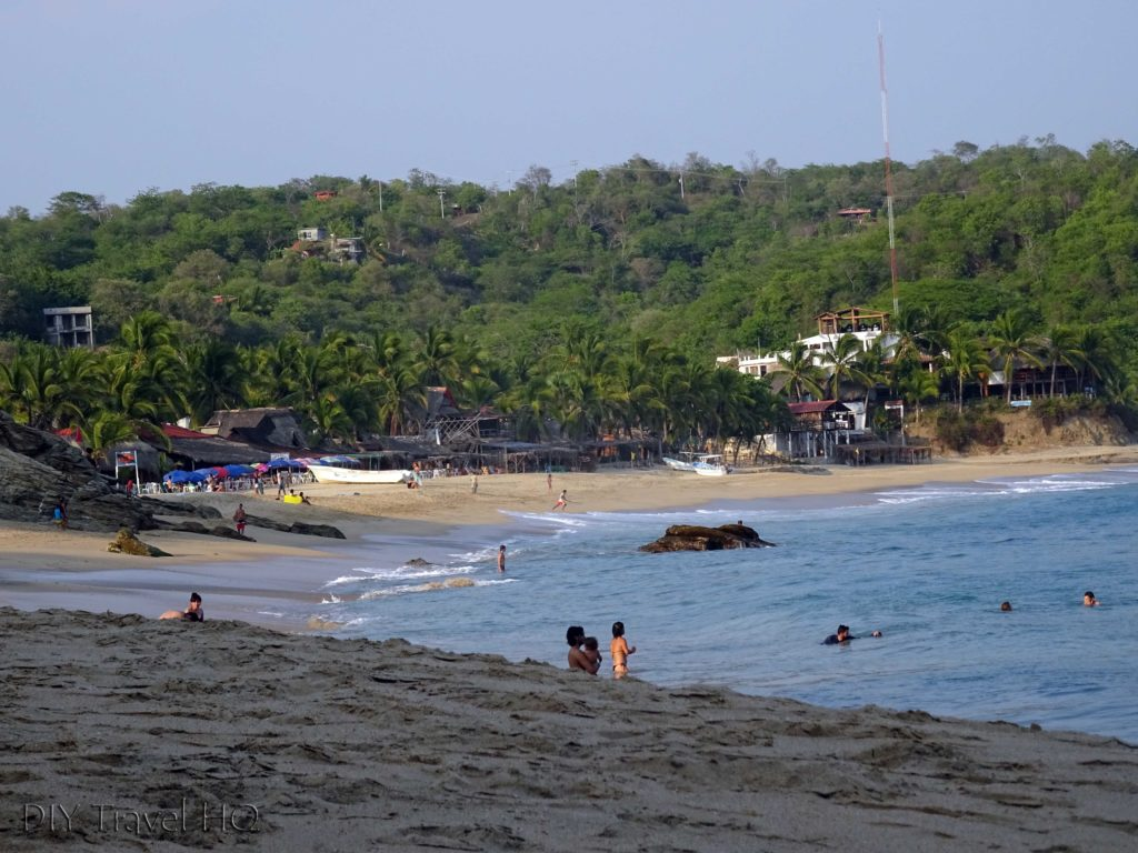 Playa Mazunte next to Punta Cometa