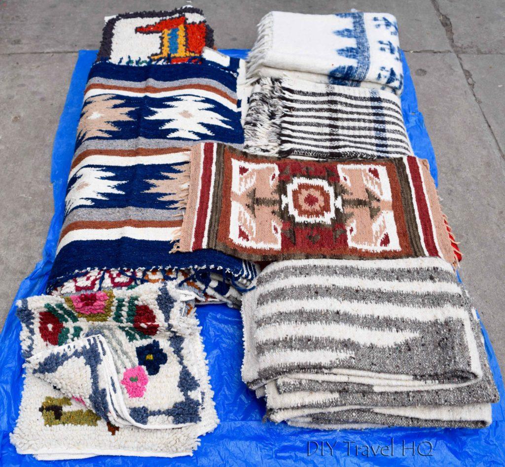 Momostenango Market Wool Blankets