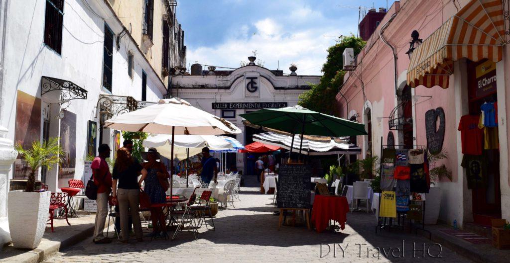 Old Havana Plaza de la Catedral Taller Experimental de Grafica Alleyway