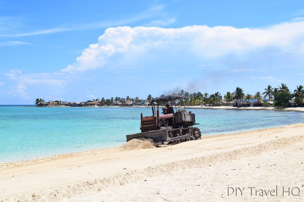 Playa los Cocos Bulldozer Leveling Beach