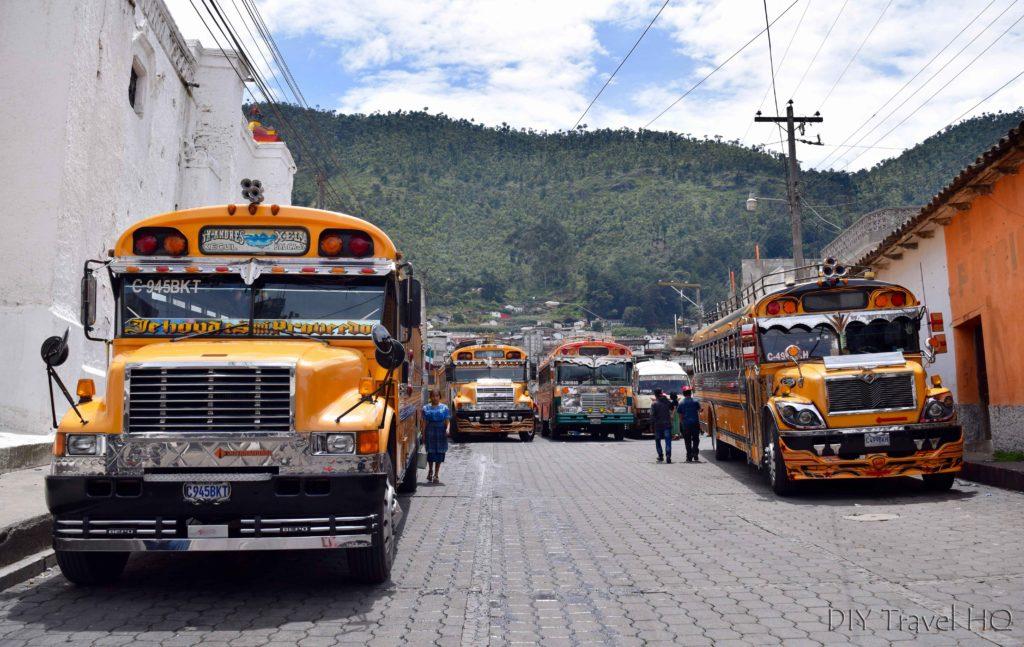 San Andres Xecul Chicken Bus Terminal