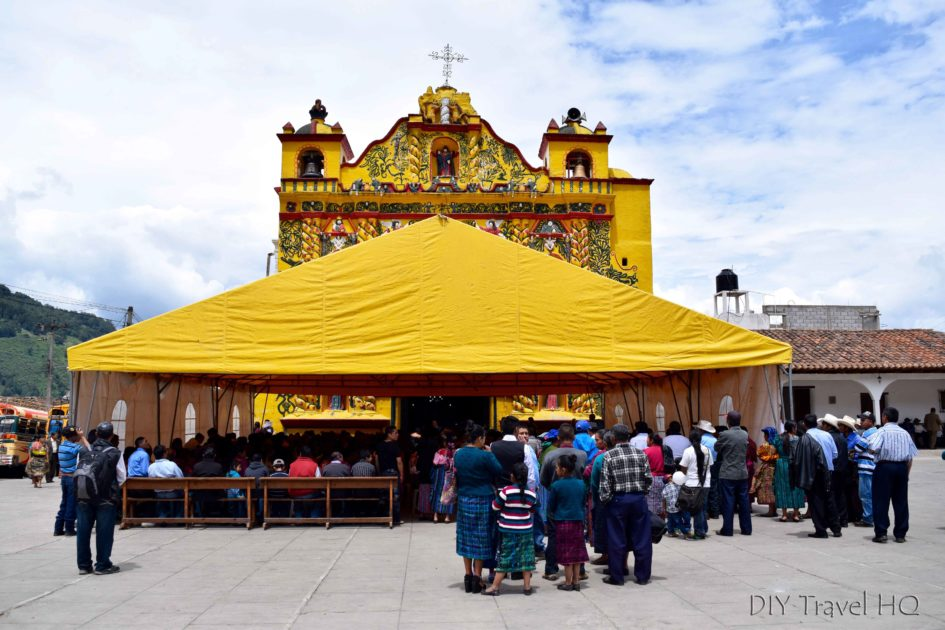 San Andres Xecul Iglesia del Calvario Tent