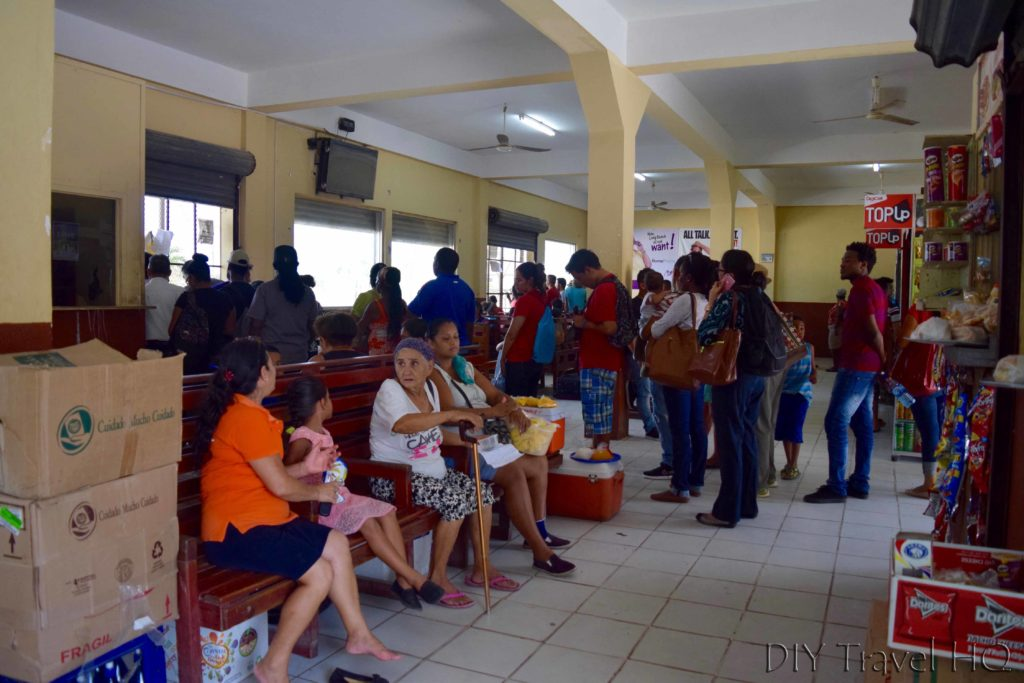 Bus station at Belmopan
