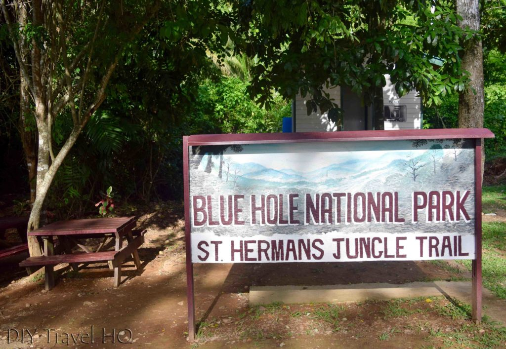 Entrance to St Herman's Blue Hole National Park