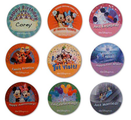 Disney special occasion button