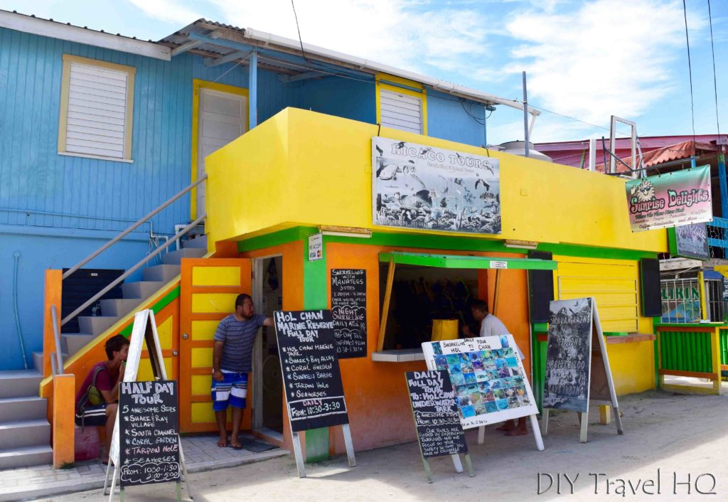 Tour agency on Caye Caulker