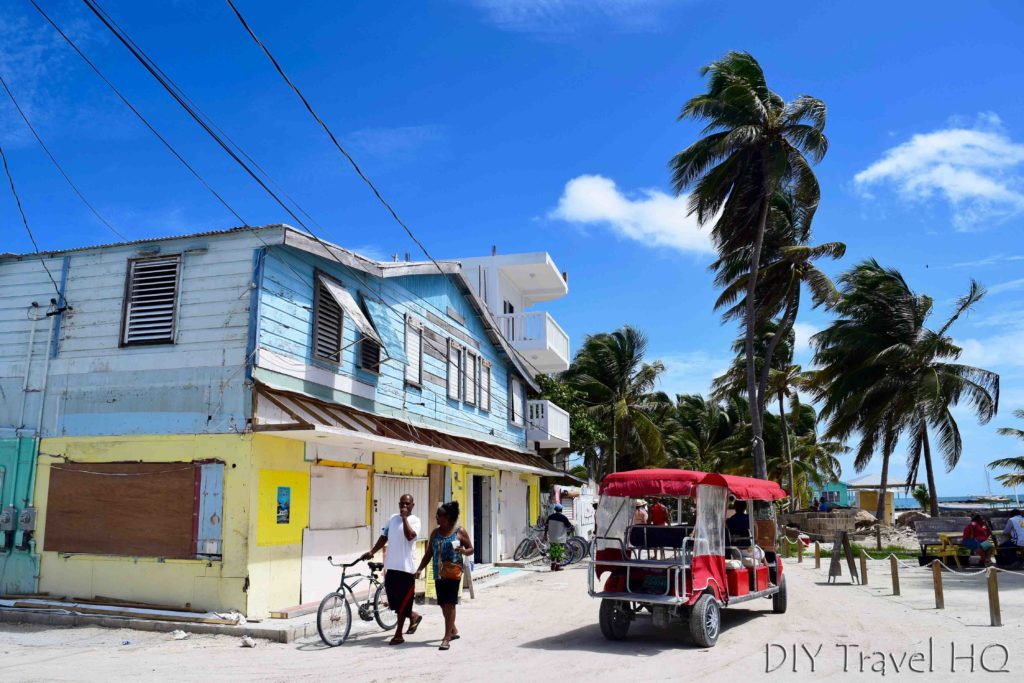 Main street on Caye Caulker