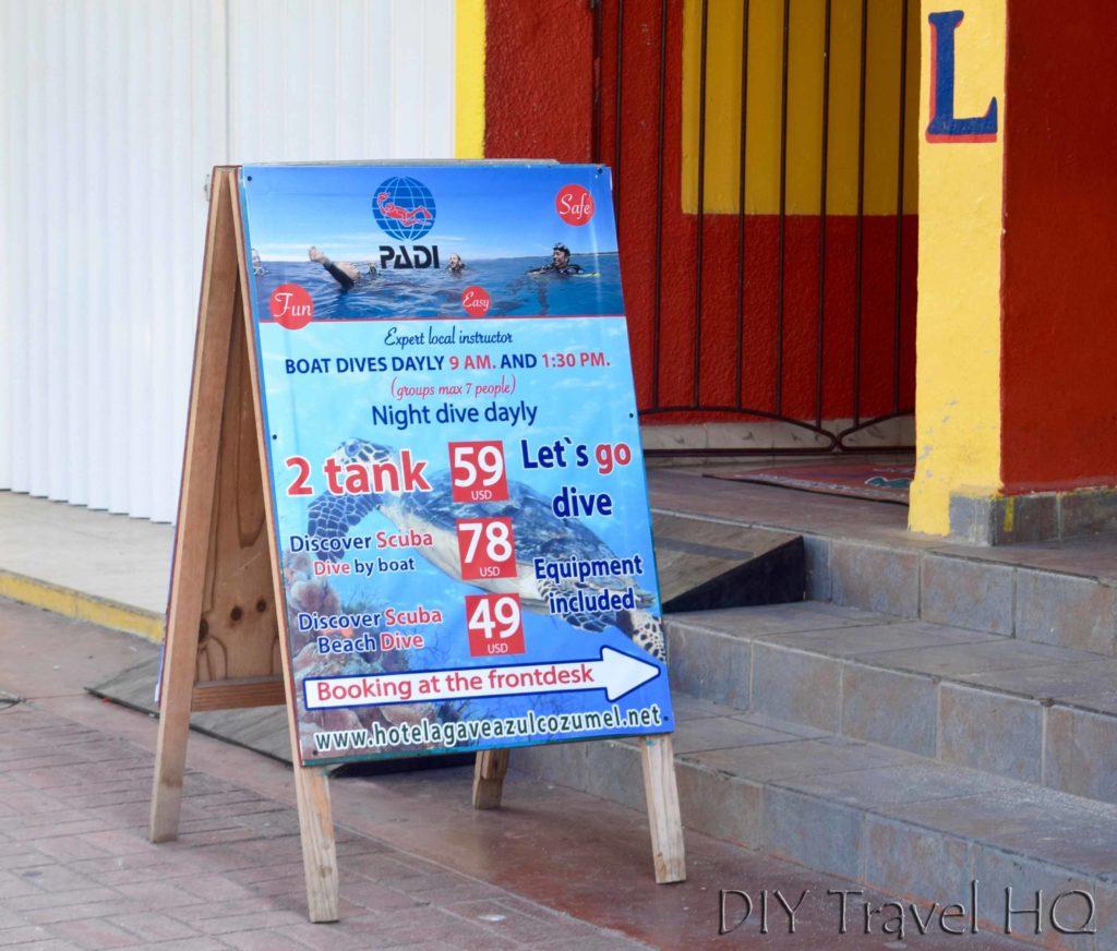Hotel Agave Azul sign