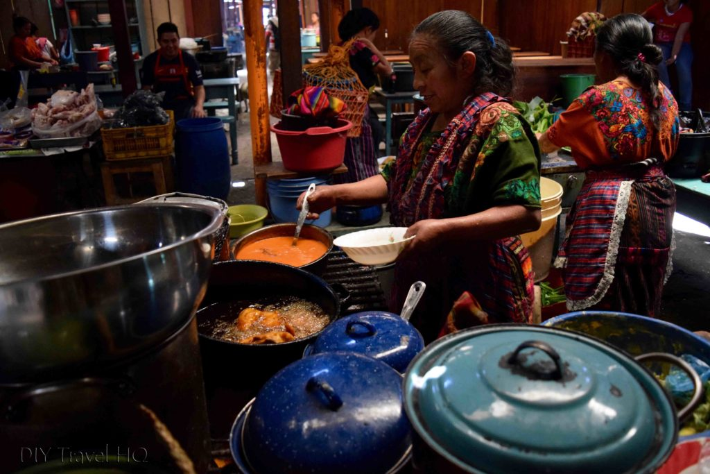 Chichicastenango Central Market Food Stalls