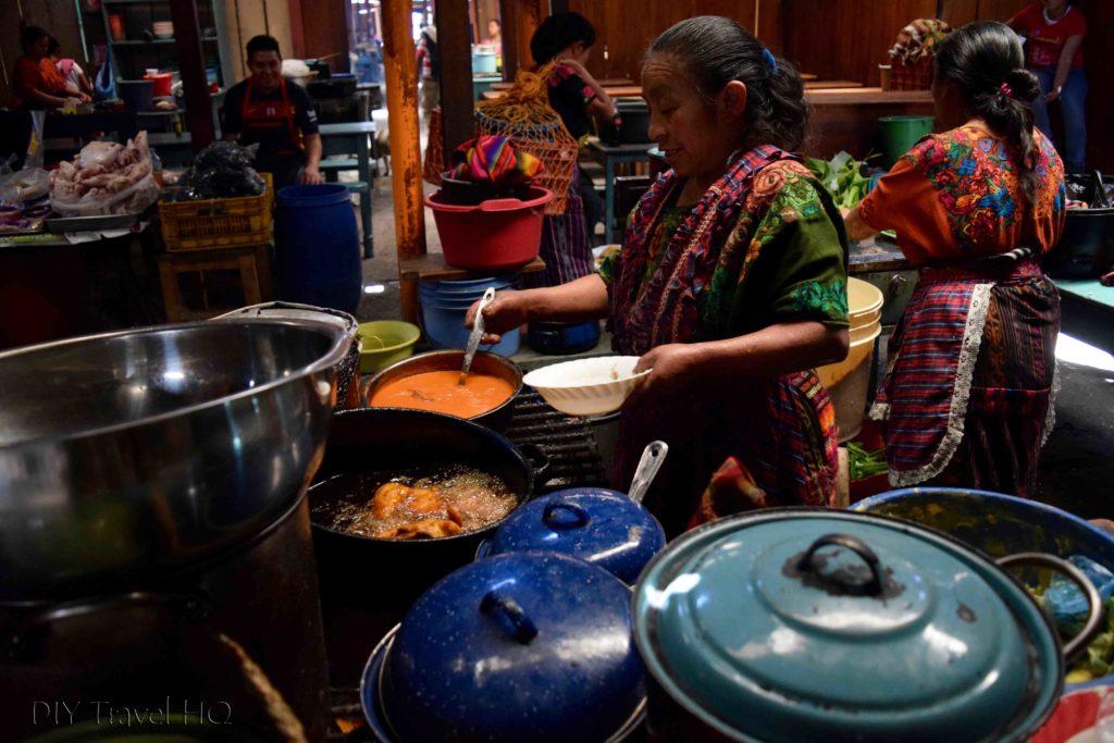 Chichicastenango Central Market Food Stalls