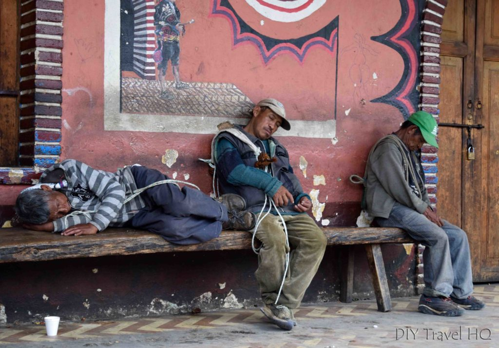Chichicastenango Guatemalas Sleeping in Arcade Surrounding Main Plaza