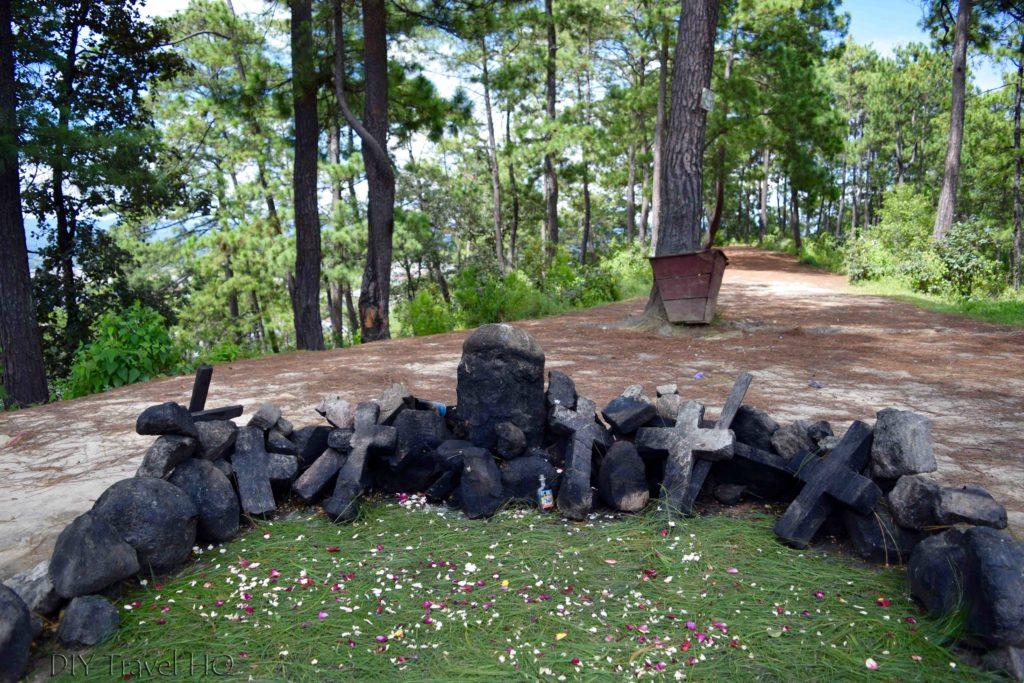 Chichicastenango Pascual Abaj Shrine to Huyup Tak'ah
