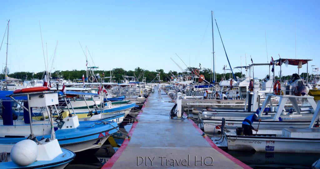 Main pier in Cozumel