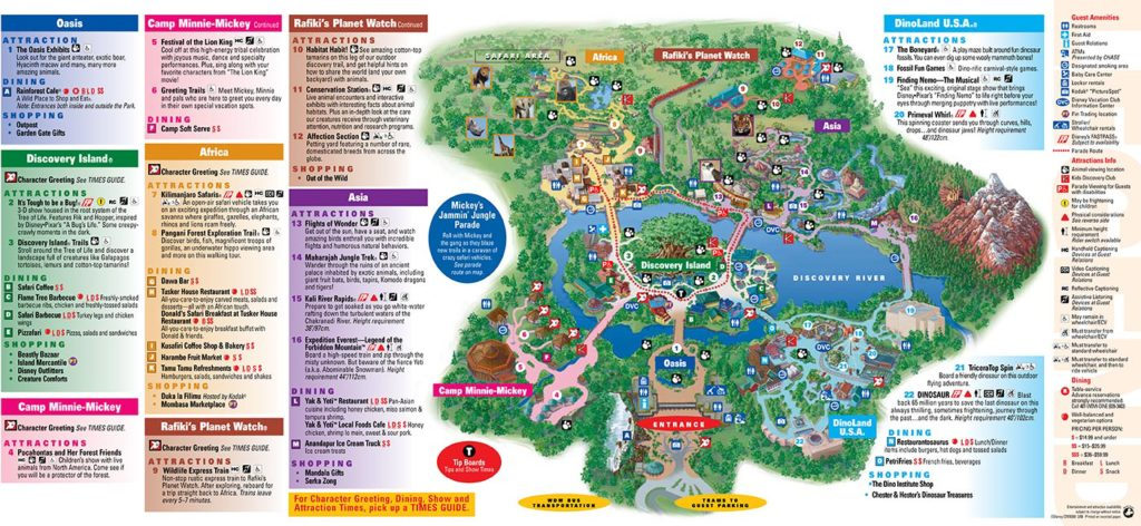 Disney World 2016 map