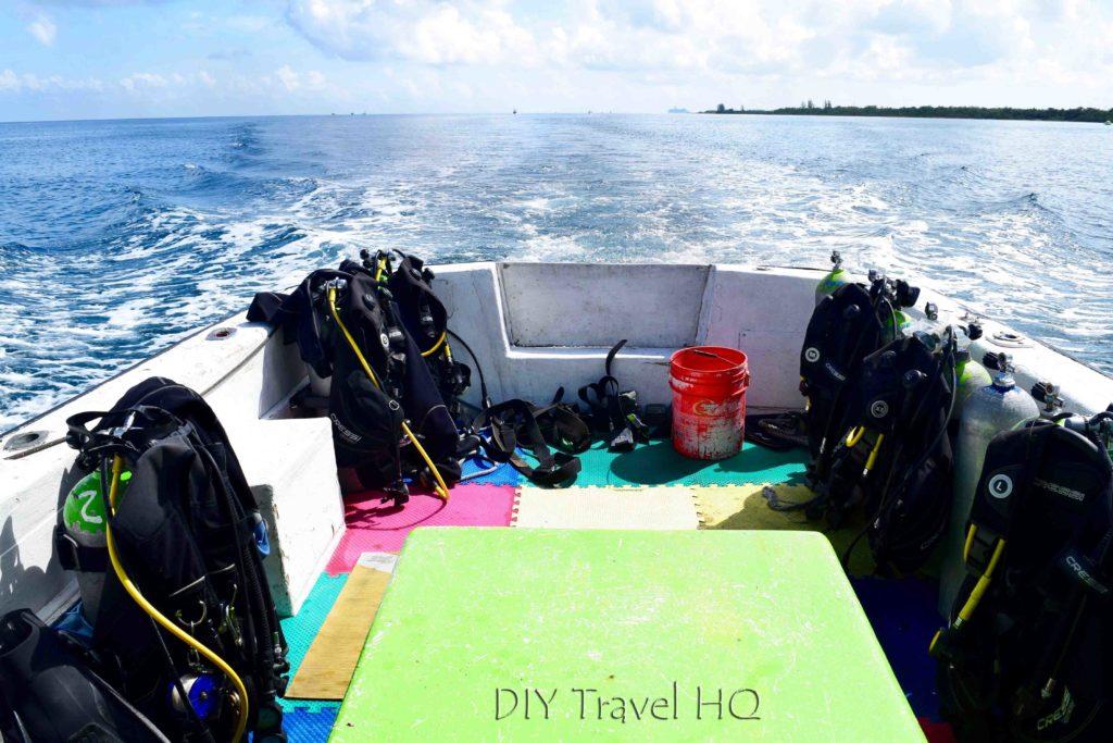 Dive boat in Cozumel