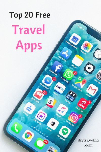 Smartphone with free travel apps