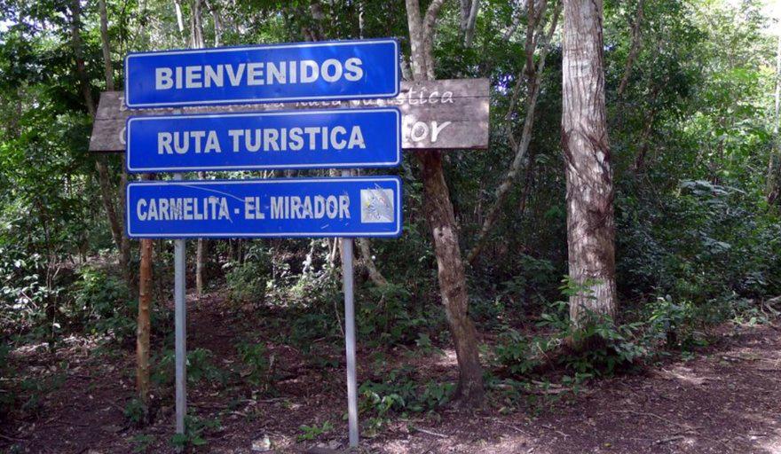 Hike to El Mirador Sign