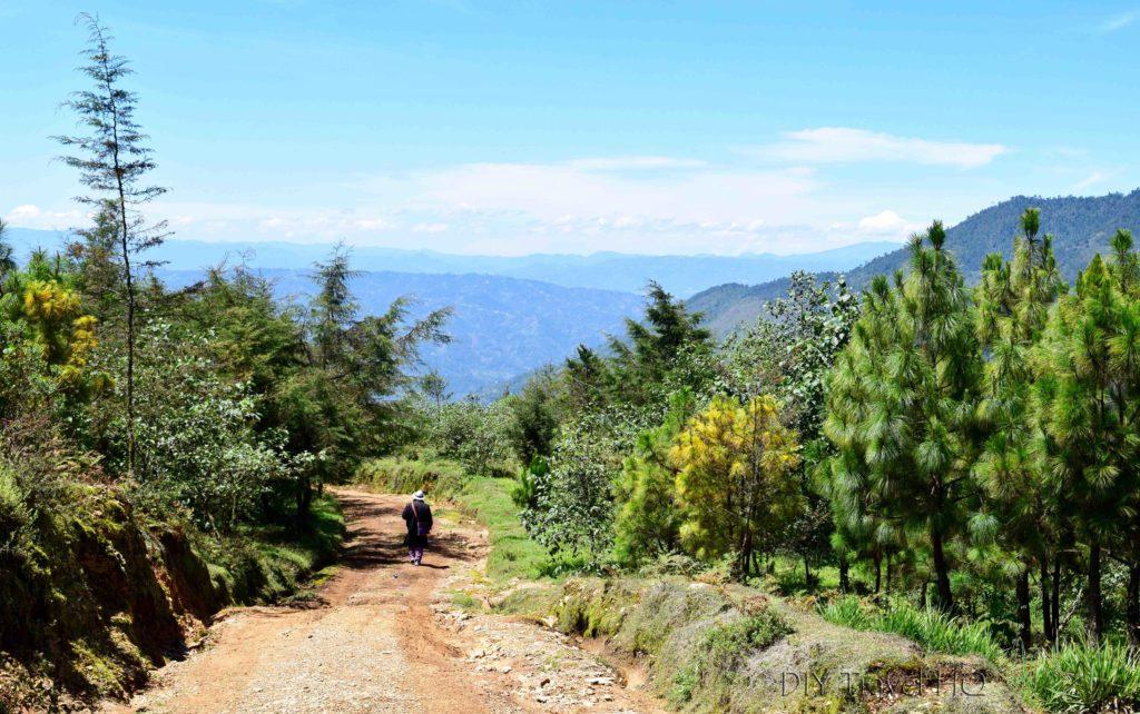 Hike to San Juan Atitan Final Descent into Town