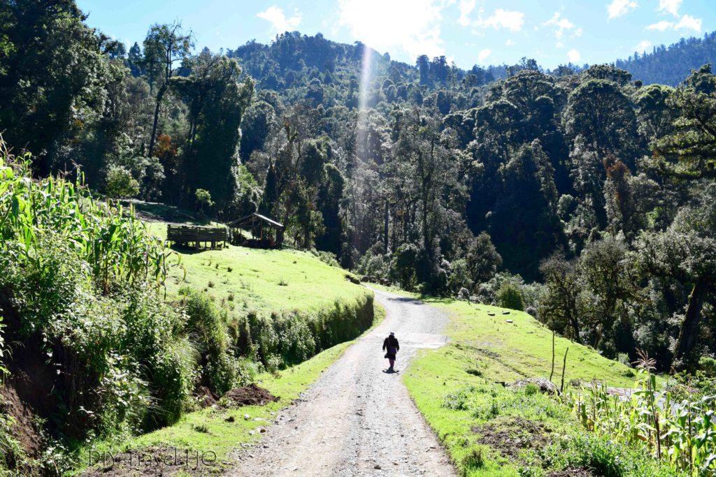Hike to San Juan Atitan Start of Shortcut