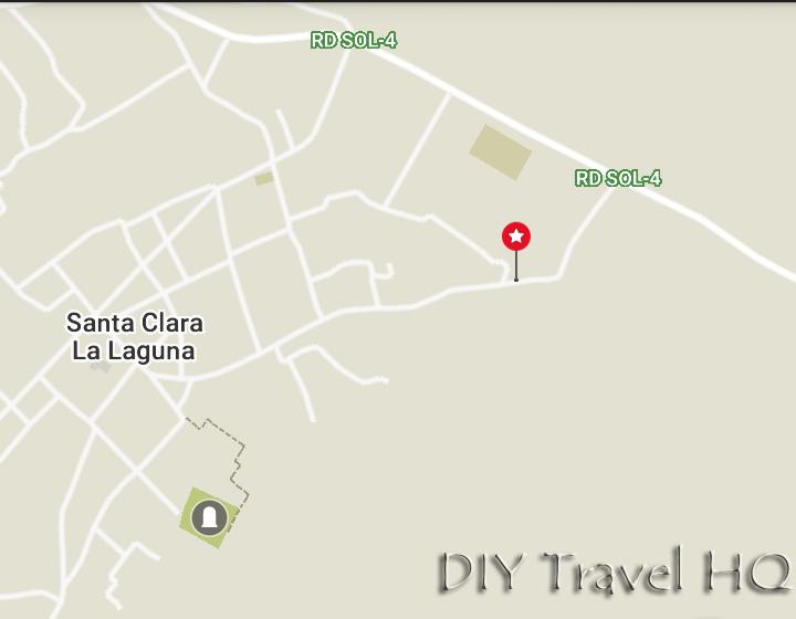 Indian Nose Hike Starting Point in Santa Clara La Laguna GPS Coordinates