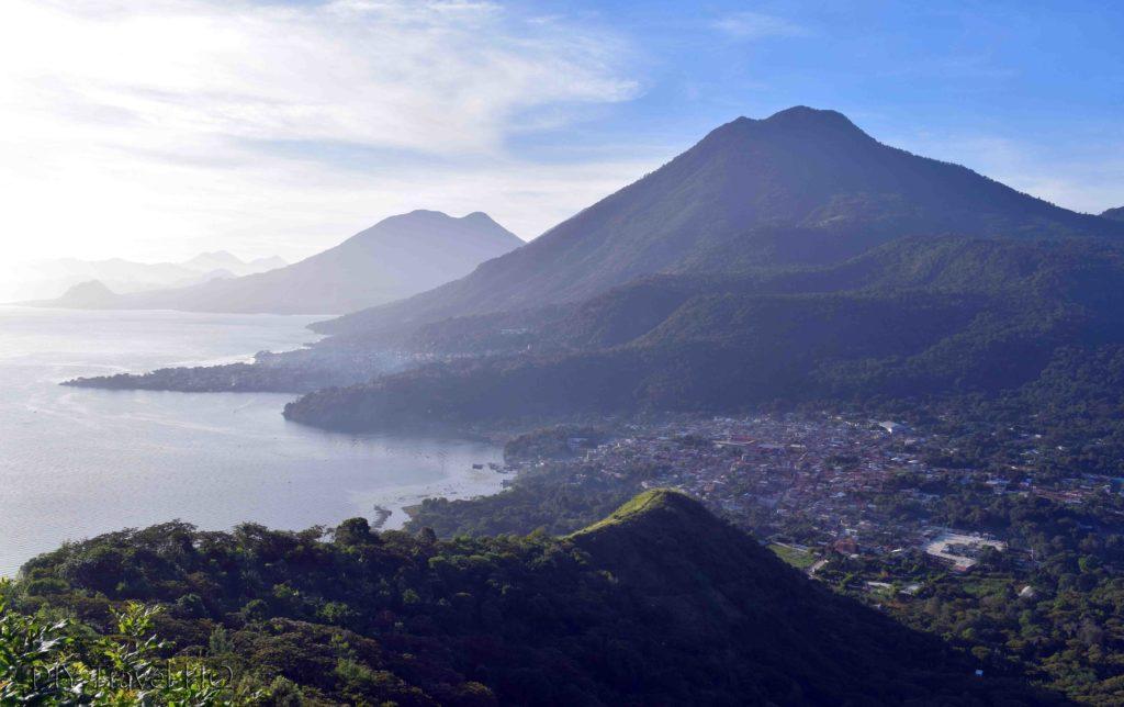 Indian Nose Hike View of San Juan La Laguna & Cruz Lookout