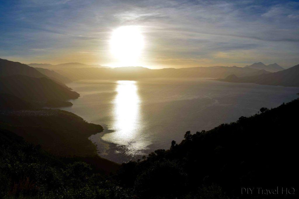 Indian Nose Sun Glare on Lake Atitlan