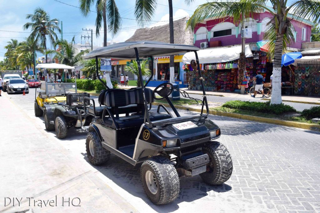 Golf cart on Isla Mujeres