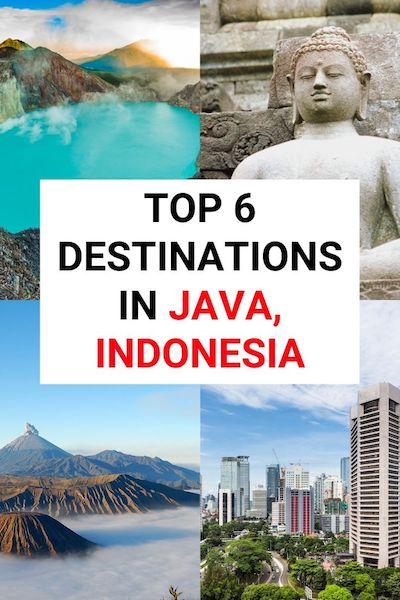 Planning to travel to Java, Indonesia? From culture to art find out the top 6 places to visit in this amazing region of Asia #java #indonesiatravel