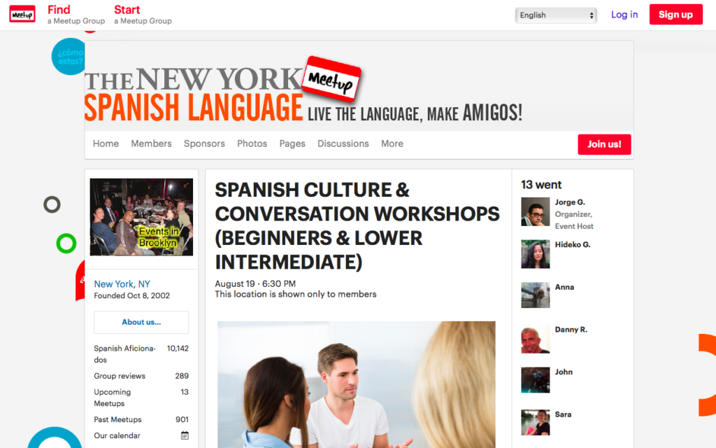 Meet-up language group