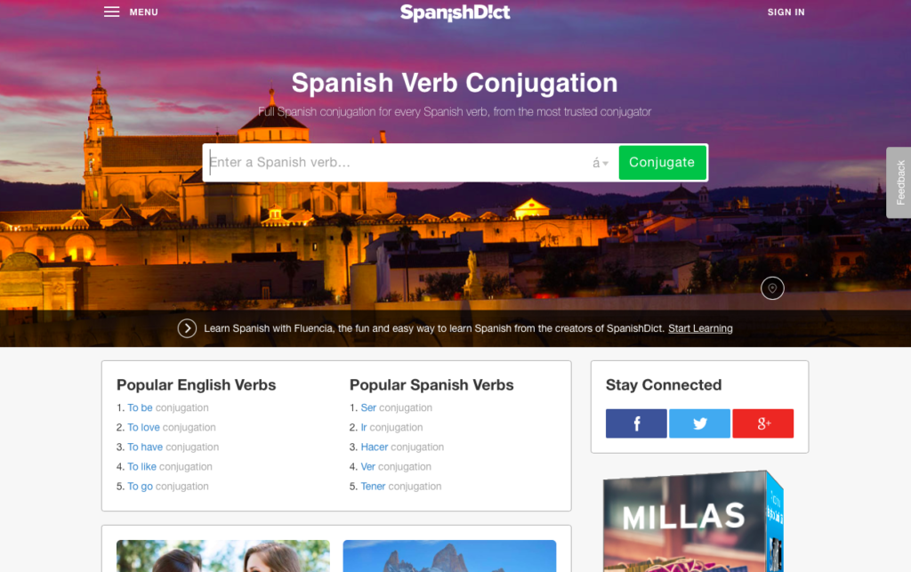 Spanish Dictionary Verb Conjugator
