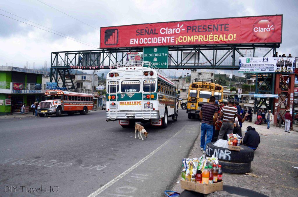Los Encuentros Chicken Bus Stop