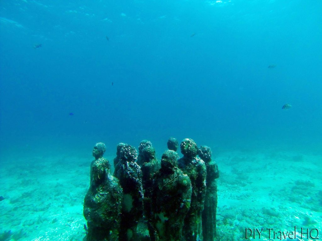 MUSA sculptures near the surface