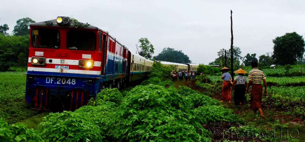 Myanmar train off tracks
