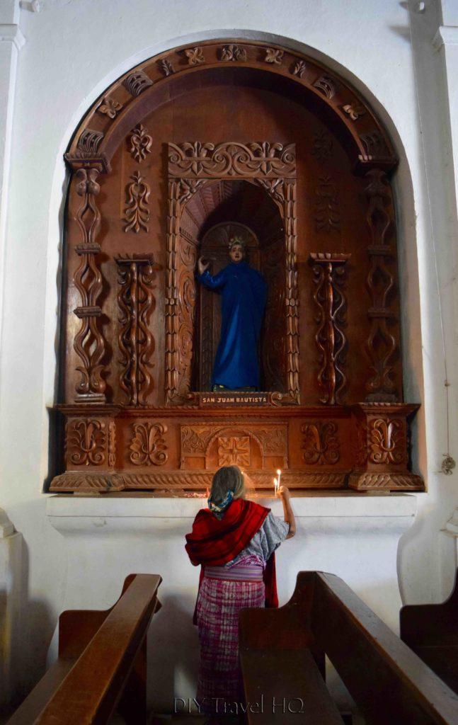 Nebaj Local Woman Praying at Church
