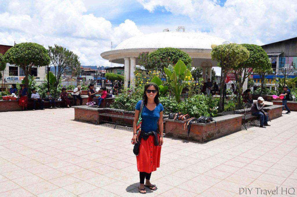 Nebaj Main Plaza with Sheena